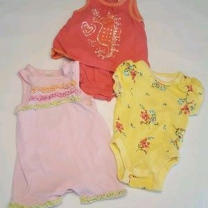Old Navy romper lot baby girl 0 3 months